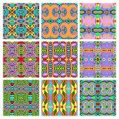 набор различного бесшовного цветного старинного геометрического образца, tex — Cтоковый вектор