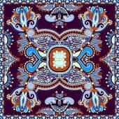 Neck scarf or kerchief square pattern design — Stock Vector