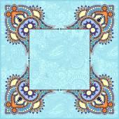 Floral frame, ethnic ukrainian ornament on paisley background — Stock Vector
