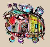 Insolita malinconia e stupida ape pazza — Vettoriale Stock