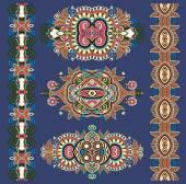 Ornamental ethnik decorative floral adornment — Stock Vector