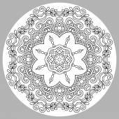 Coloring book page for adults - zendala — Stockvektor