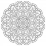 Circle lace ornament, round ornamental geometric doily pattern, — Stock Vector #73664597