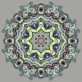 Mandala, circle decorative spiritual indian symbol of lotus flow — ストックベクタ