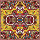 Silk neck scarf or kerchief square pattern design — Vetor de Stock