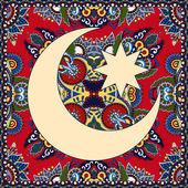 Carpet design for holy month of muslim community festival Ramada — Stock Vector