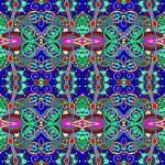 Authentic seamless floral geometric pattern, ethnic ukrainian ca — Stock Vector #74440095