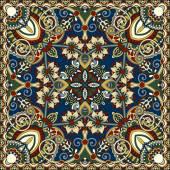 Authentieke zijde hals sjaal of bandana vierkante patroon ontwerp — Stockvector