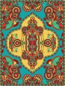 Elaborate original floral large area carpet design — Vector de stock