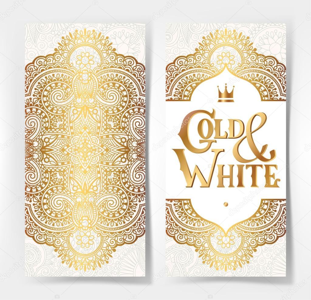 金色装饰上光模式,可用于邀请, 婚礼, 贺卡, 封面, 包装, 矢量图 —