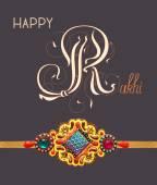 Card for indian festive sisters and brothers Raksha Bandhan — Stock Vector