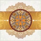 Happy Rakhi greeting card for indian holiday Raksha Bandhan — Stock Vector