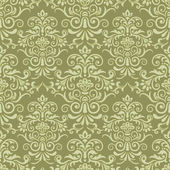 Vector damask seamless pattern background — Vector de stock