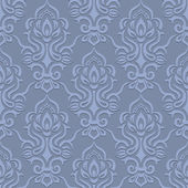 Vector damask seamless pattern background — Stock Vector