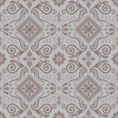 Seamless vintage pattern in grey — Stock Vector