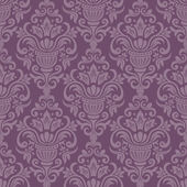 Damask vector pattern. Seamless vintage wallpaper or background — Stock Vector
