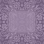 Vintage ornamental template with pattern and decorative frame — Stock Vector