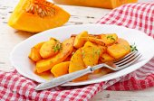 Baked pumpkin with thyme — Foto Stock