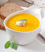 Kabak çorbası krem — Stok fotoğraf