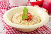 Porridge in a bowl — Stock Photo
