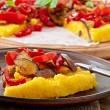 Polenta with vegetables — Stock Photo #53752849