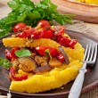Polenta with vegetables — Stock Photo #53752875
