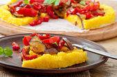 Polenta with vegetables — Stock Photo