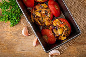 Baked tomatoes — Stock Photo