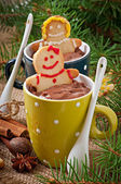 Hot chocolate and gingerbread — Zdjęcie stockowe