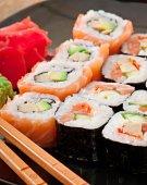 Sushi e sashimi — Fotografia Stock