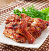 Baked chicken wings in the Asian style — Stock Photo