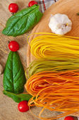 Colorful fettuccine pasta — Foto de Stock