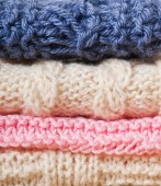 Knitted clothes texture — Stock Photo