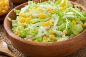 Cabbage salad with corn — Stock Photo