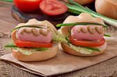 Little  hot dogs — Stock Photo