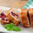 Chicken rolls with cranberries, cheese and honey — Stock Photo #60581817