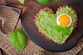 Sandwich with avocado paste and egg — Stock Photo