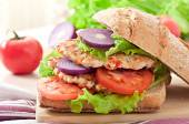 Chicken burgers grilled — Stock Photo