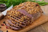 Cut baked meat — Stock Photo