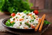 Bonne santé riz avec des légumes — Photo