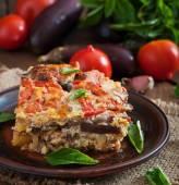 Moussaka - a traditional Greek dish — Stock Photo