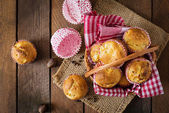 Fruit muffins with nutmeg and allspice — Stock Photo