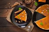 American pumpkin pie — Stock Photo