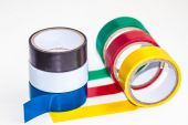Multi-colored insulating tape — Fotografia Stock