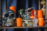 Set of objects to celebrate halloween — Stock Photo
