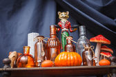Set of objects to celebrate halloween — Stockfoto