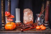 Set of objects to celebrate halloween — Stok fotoğraf