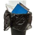Full black wastebasket — Stock Photo #52538979