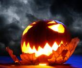 Arg halloween pumpa — Stockfoto