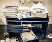 Messy workplace — Foto Stock